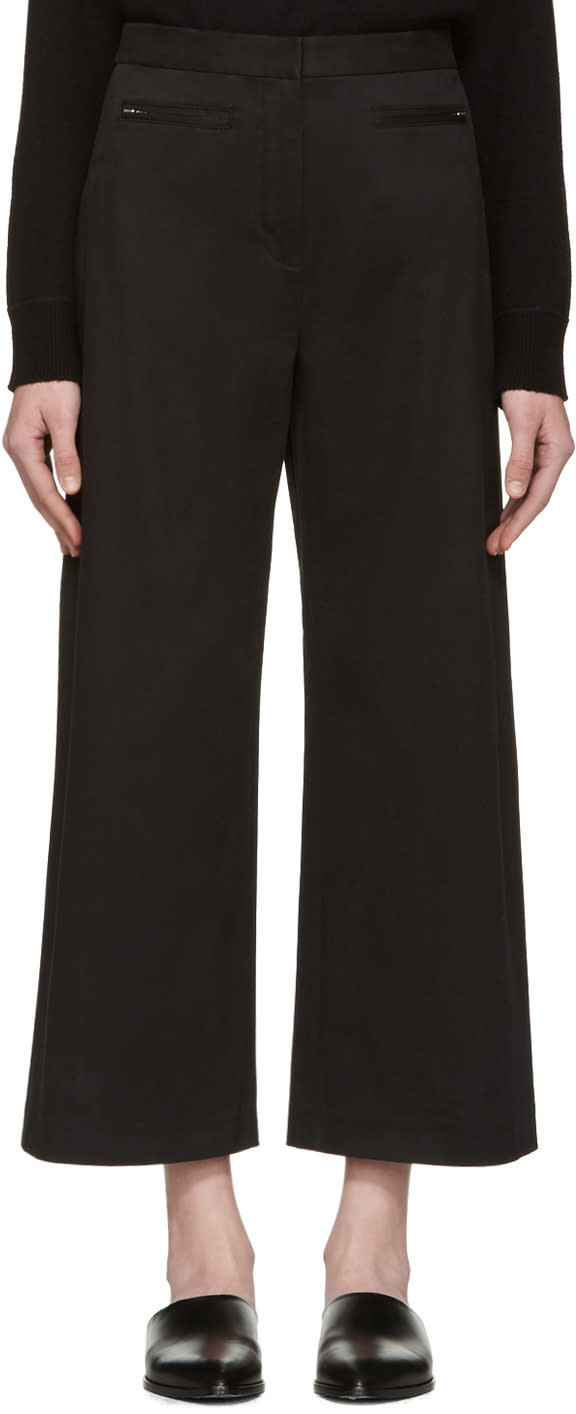 T By Alexander Wang Black High-waisted Culottes