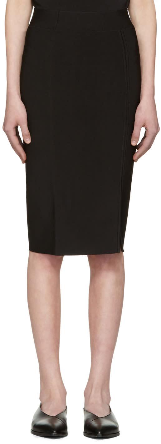 T By Alexander Wang Black Slit Skirt