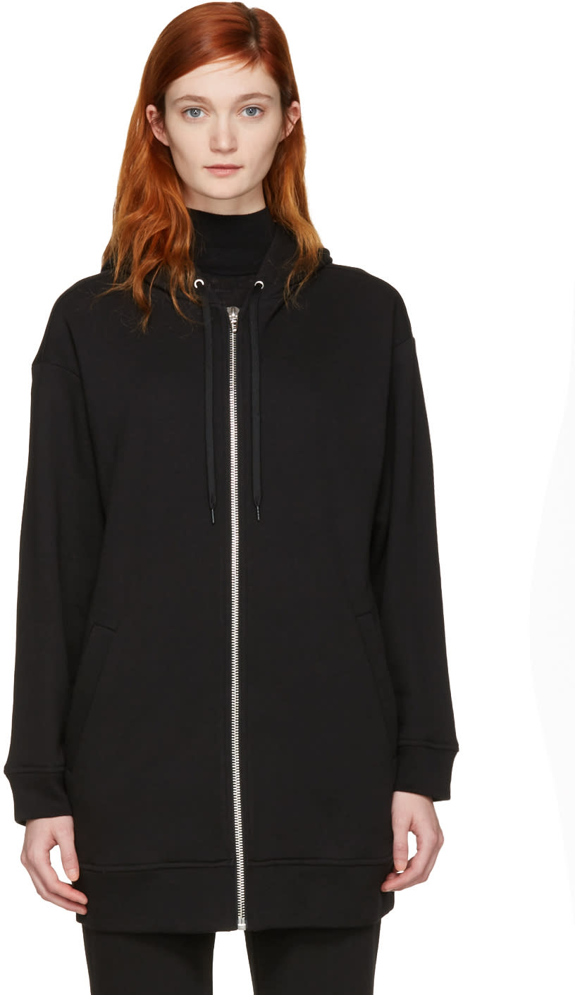 T By Alexander Wang Black French Terry Hoodie
