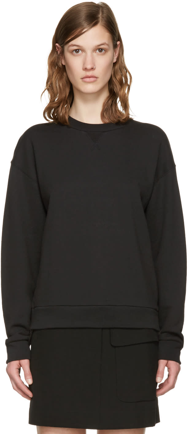 T By Alexander Wang Black French Terry Pullover