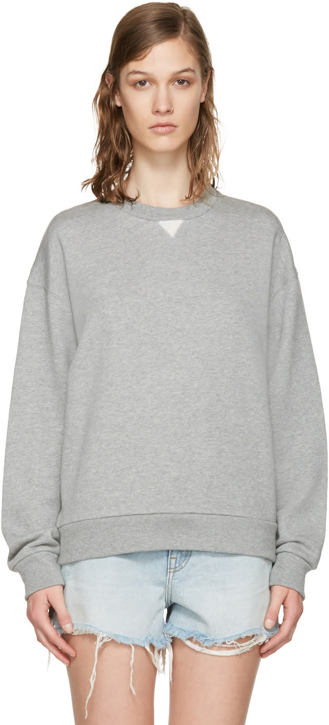 T By Alexander Wang Grey French Terry Pullover
