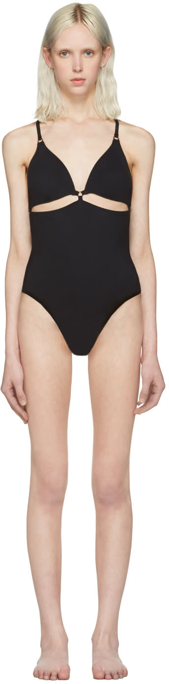 T By Alexander Wang Black Cut-out Swimsuit