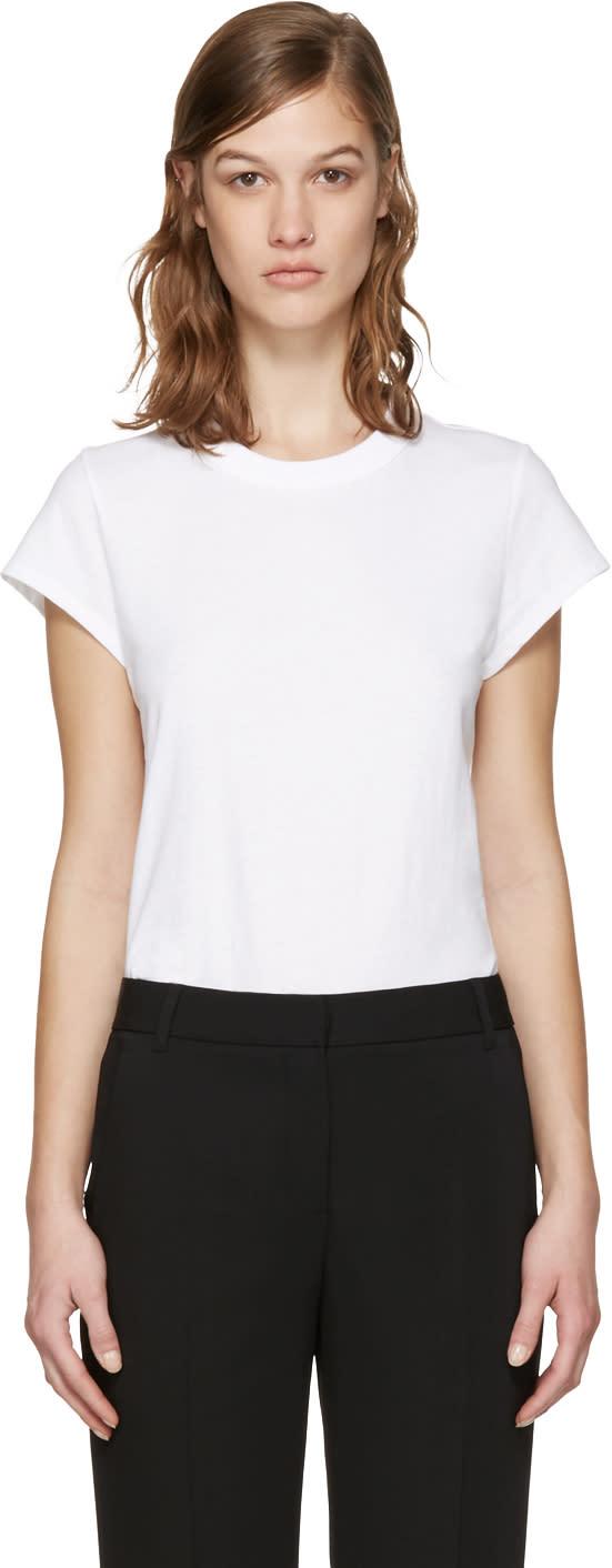 T By Alexander Wang White Jersey T-shirt Bodysuit