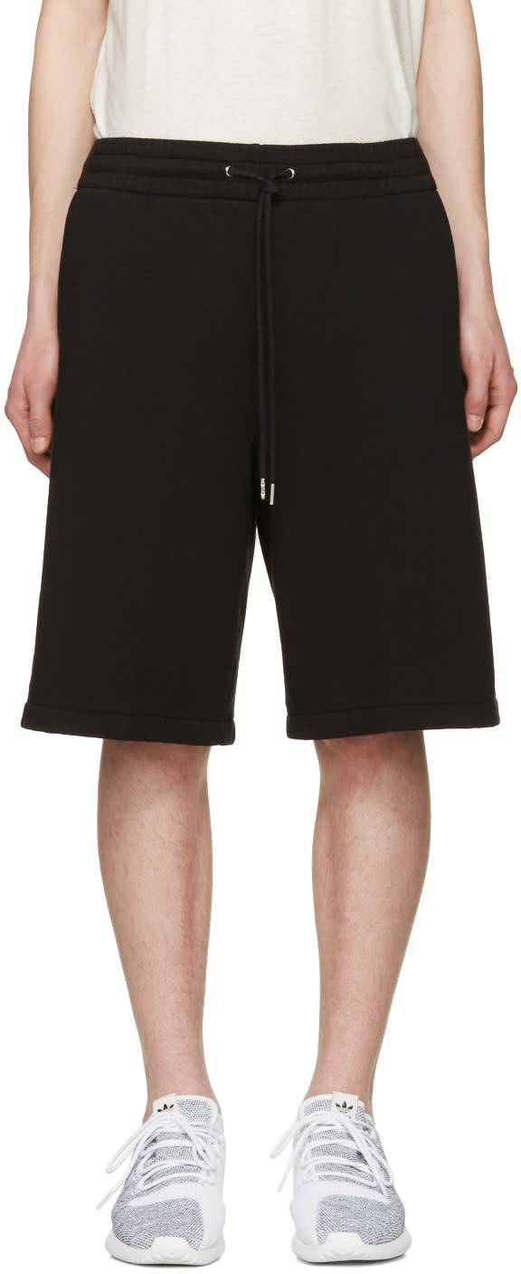 T By Alexander Wang Black Lounge Shorts
