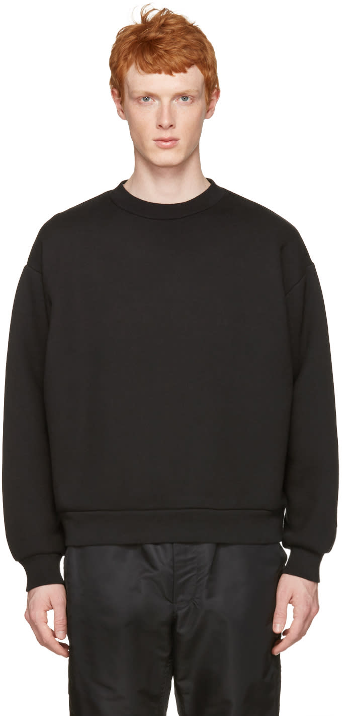 T By Alexander Wang Black Oversized Pullover