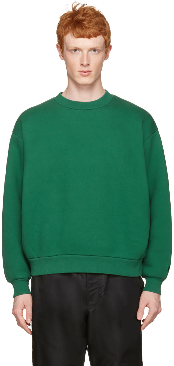 T By Alexander Wang Green Oversized Pullover