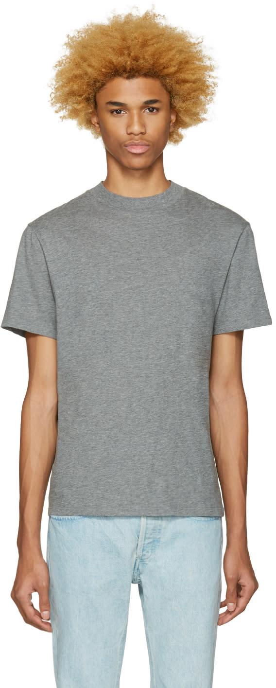 T By Alexander Wang Grey High Neck T-shirt