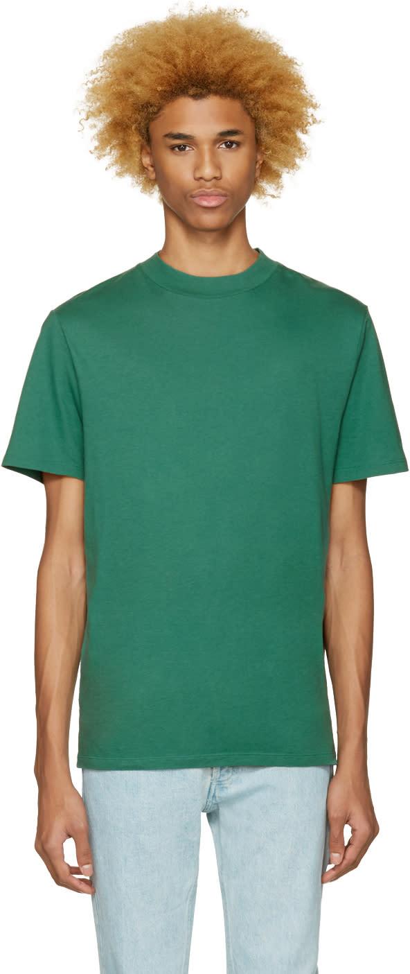 T By Alexander Wang Green High Neck T-shirt