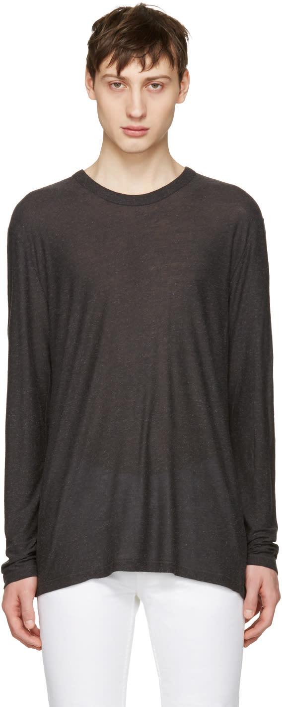 T By Alexander Wang Grey Long Sleeve T-shirt