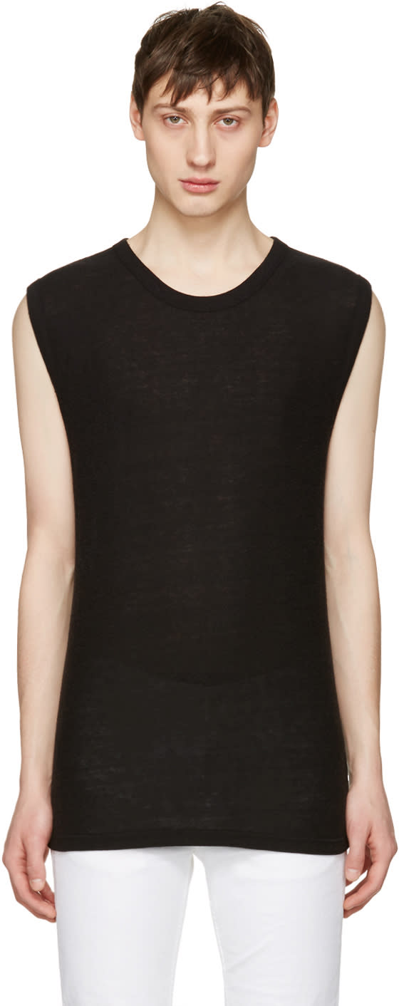 T By Alexander Wang Black Sleeveless T-shirt
