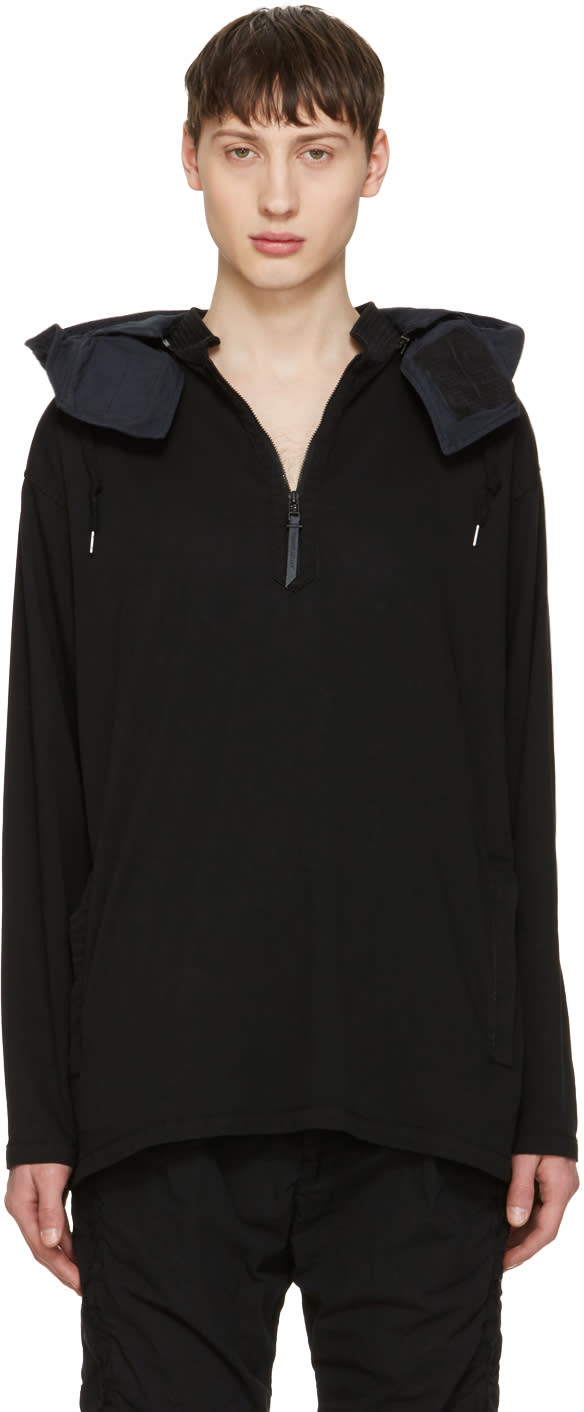 Image of Robert Geller Black Drifter Anorak