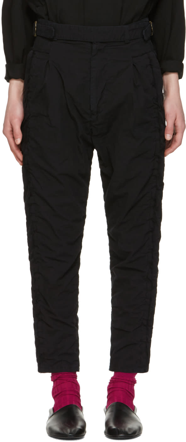 Image of Robert Geller Black Undone Blixa Trousers