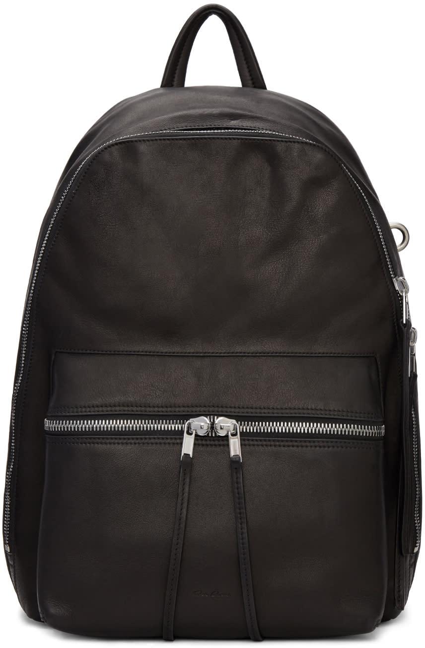 rick owens female rick owens black leather backpack