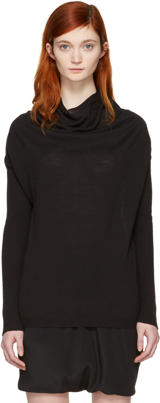 Rick Owens Black Crater Pullover
