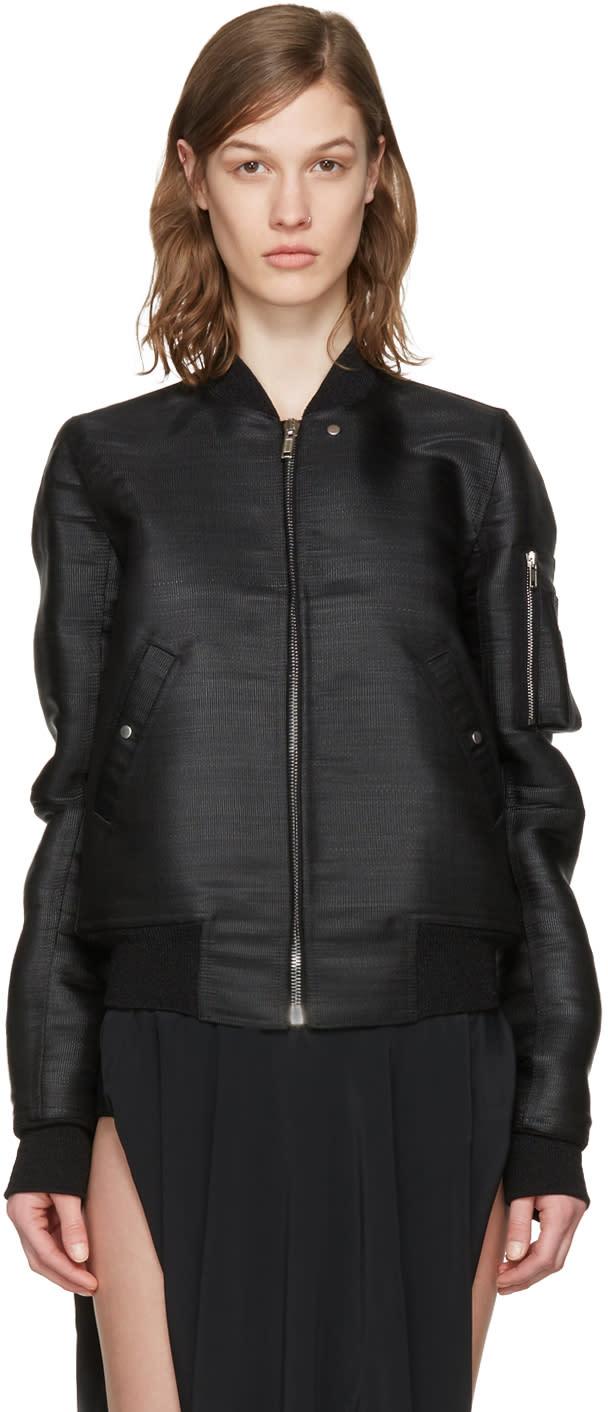 Rick Owens Ssense Exclusive Black Flight Bomber Jacket