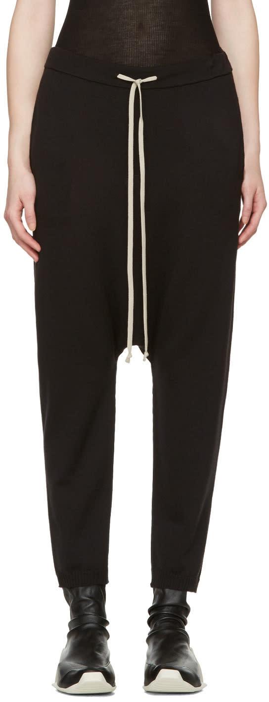 Rick Owens Black Wool Lounge Pants