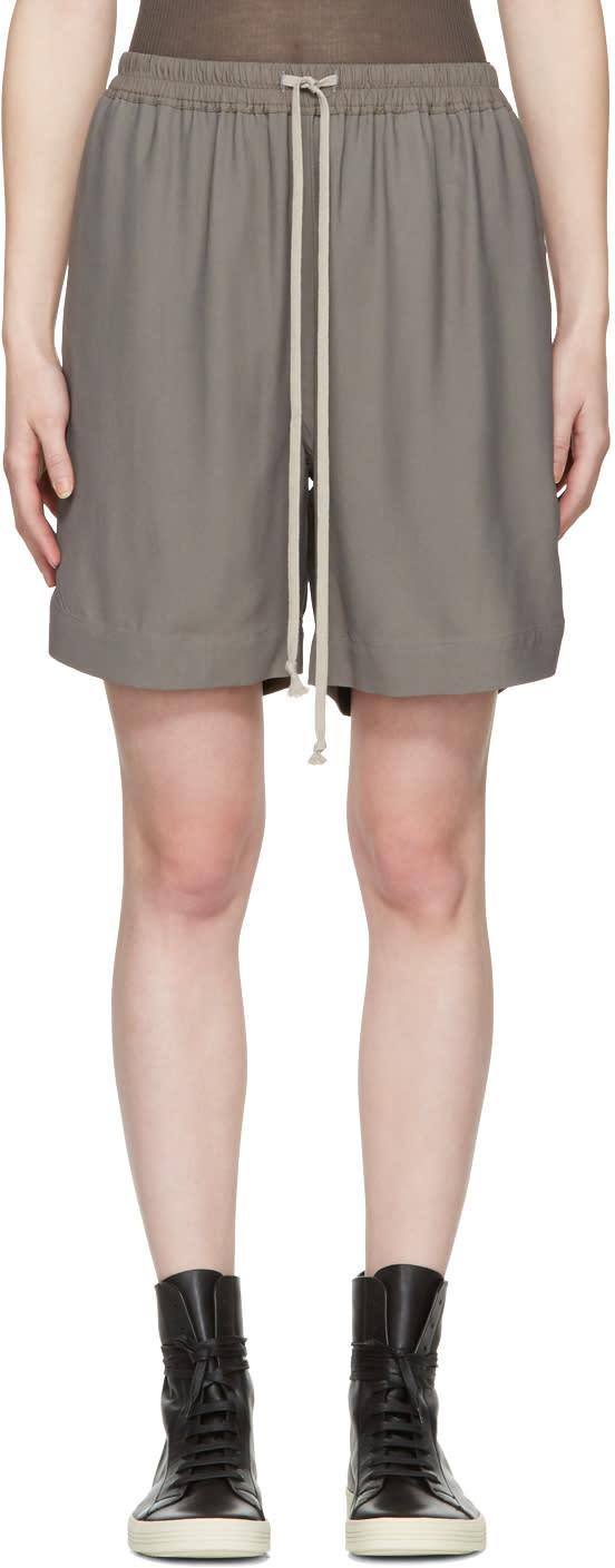 Rick Owens Grey Drawstring Boxer Shorts
