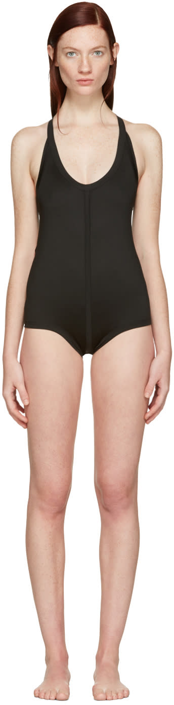 Rick Owens Black Crossback Swimsuit