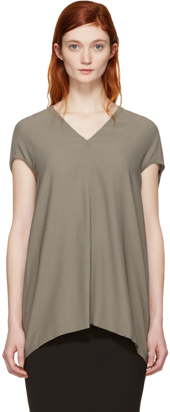 Rick Owens Grey Floating Blouse