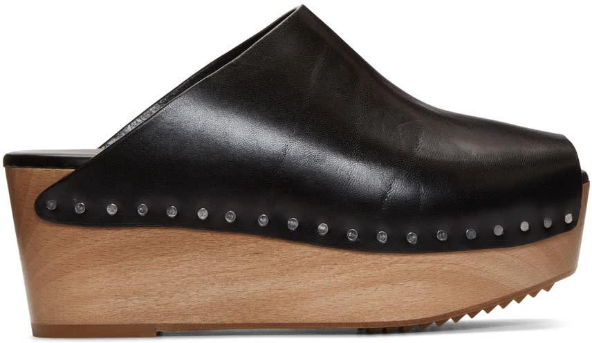 Rick Owens Black Island Sabot Sandals