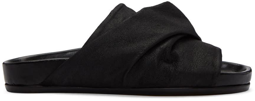 Rick Owens Black Mobius Granola Sandals