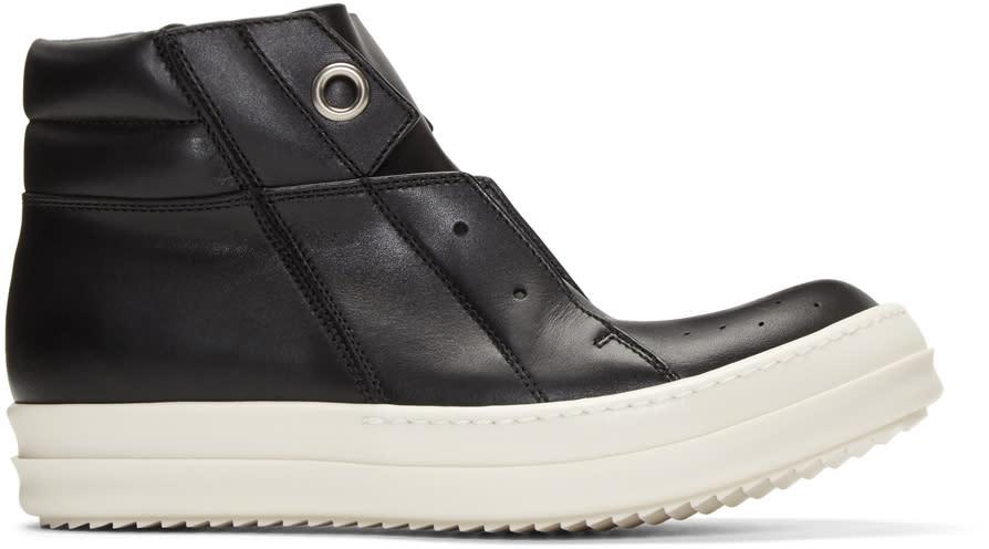 Rick Owens Black Island Dunk High-top Sneakers