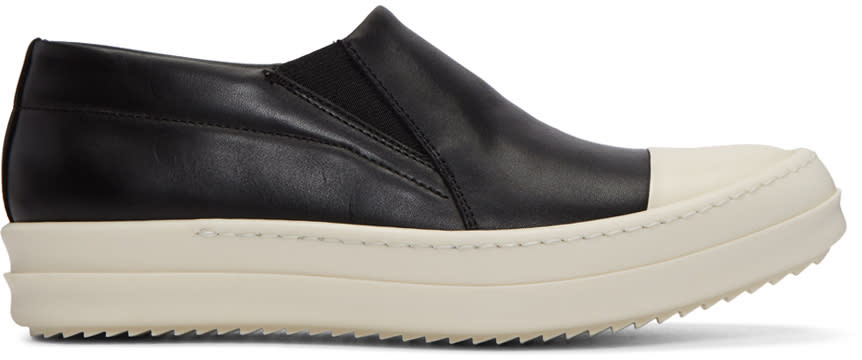 Rick Owens Black Boat Slip-on Sneakers