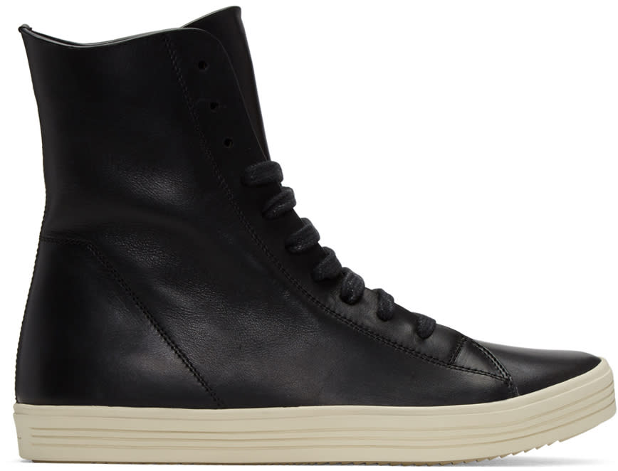 Rick Owens Black Mastodon High-top Sneakers