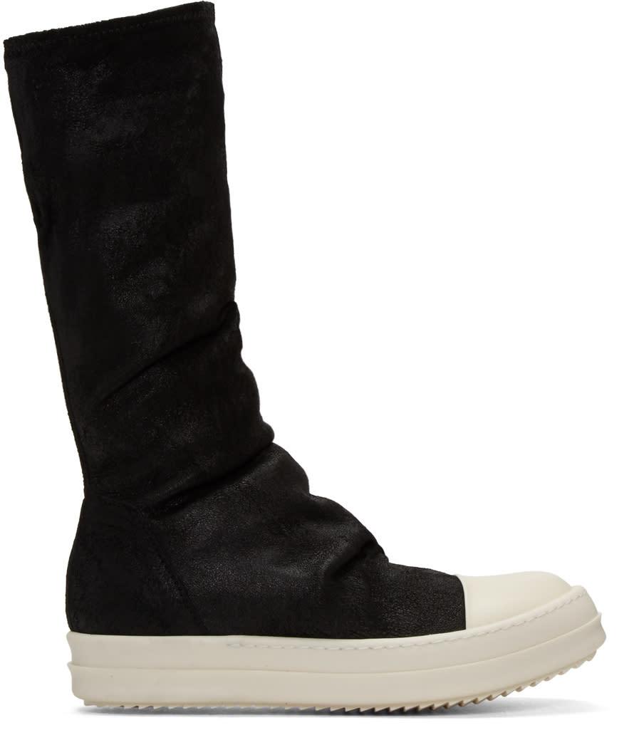 Rick OwensBlack Sock High-top Sneakers