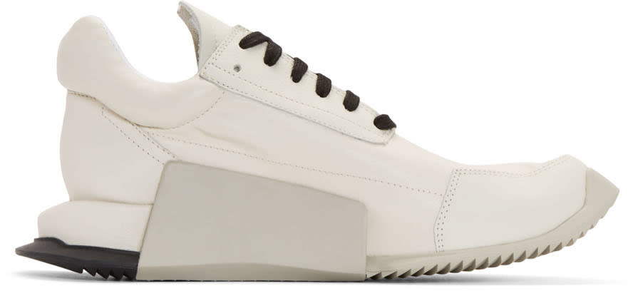 Rick Owens Ivory Adidas Orginals Edition Leather Level Sneakers
