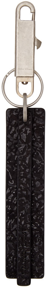 Rick Owens Black Leather Keychain