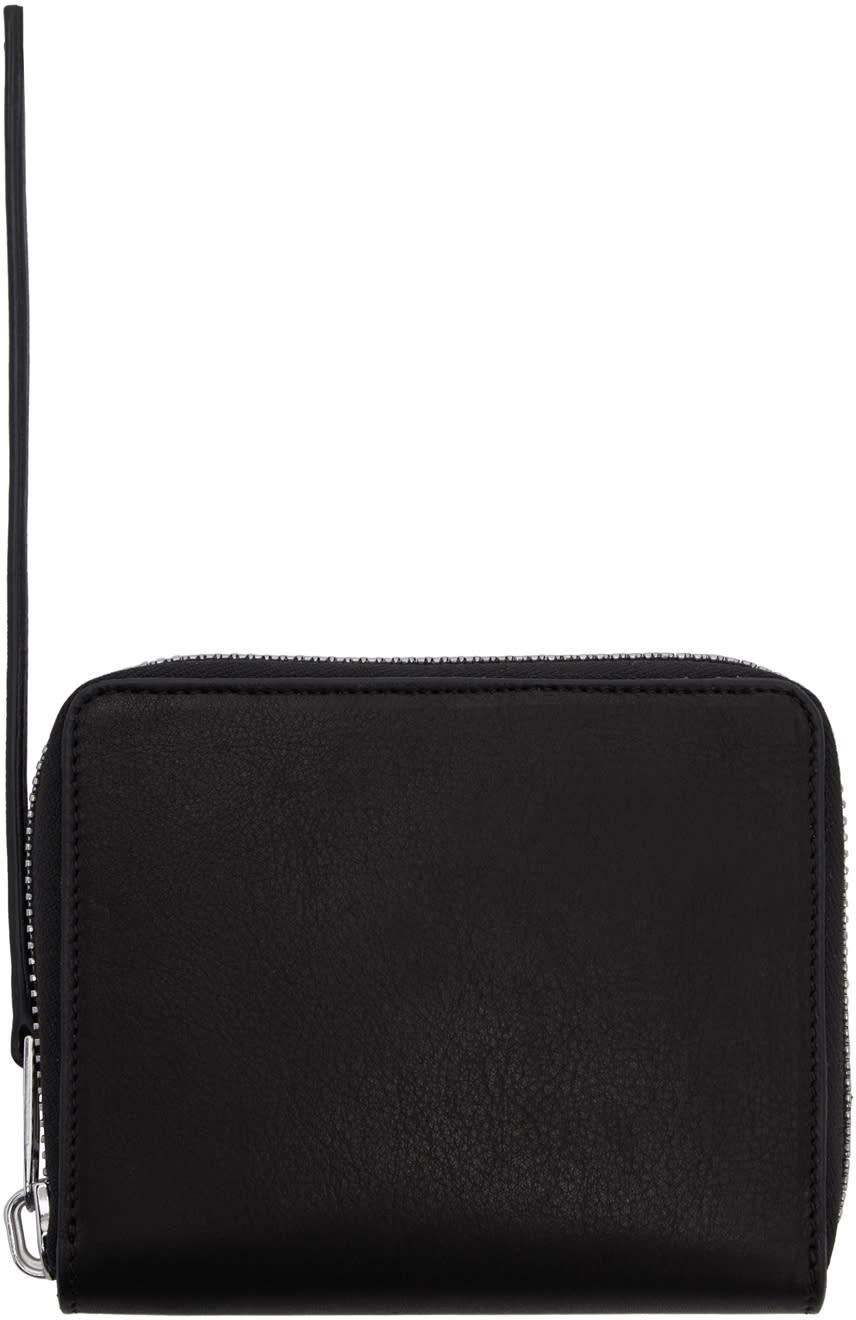 Rick Owens Black Small Zipped Wallet