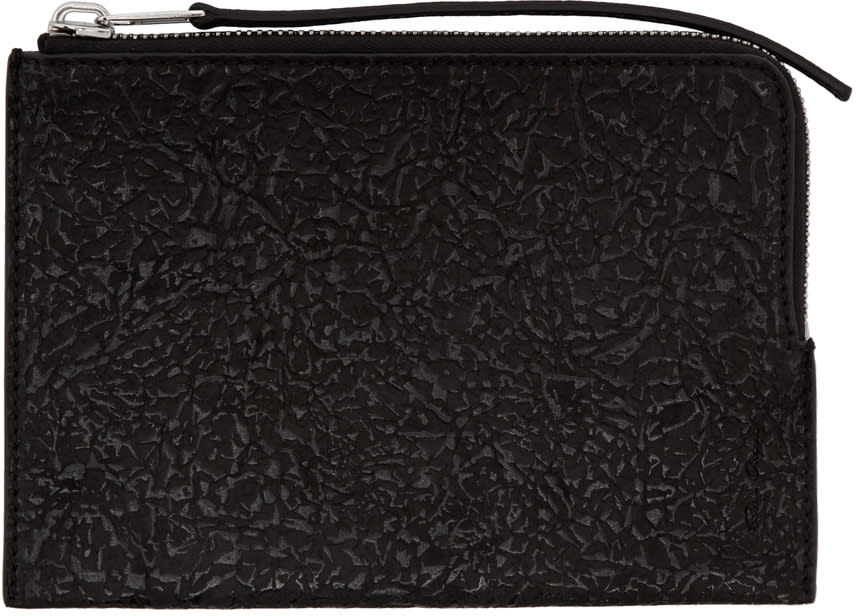 Rick Owens Black Zippered Pouch