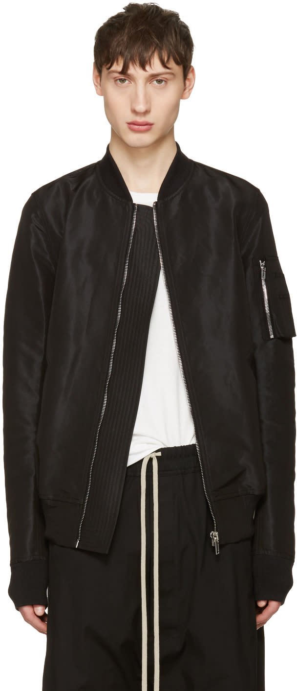 Rick Owens Black Flight Bomber Jacket