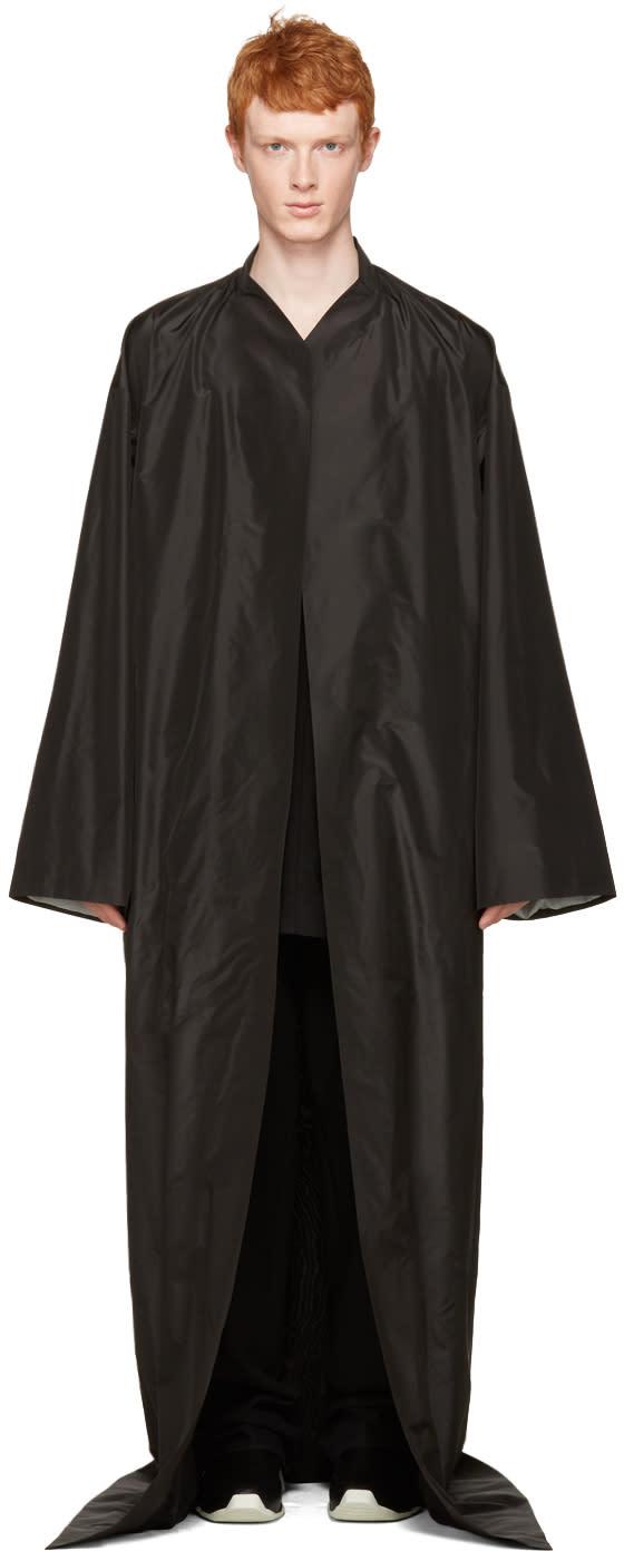 Rick Owens Black Long Beach Coat