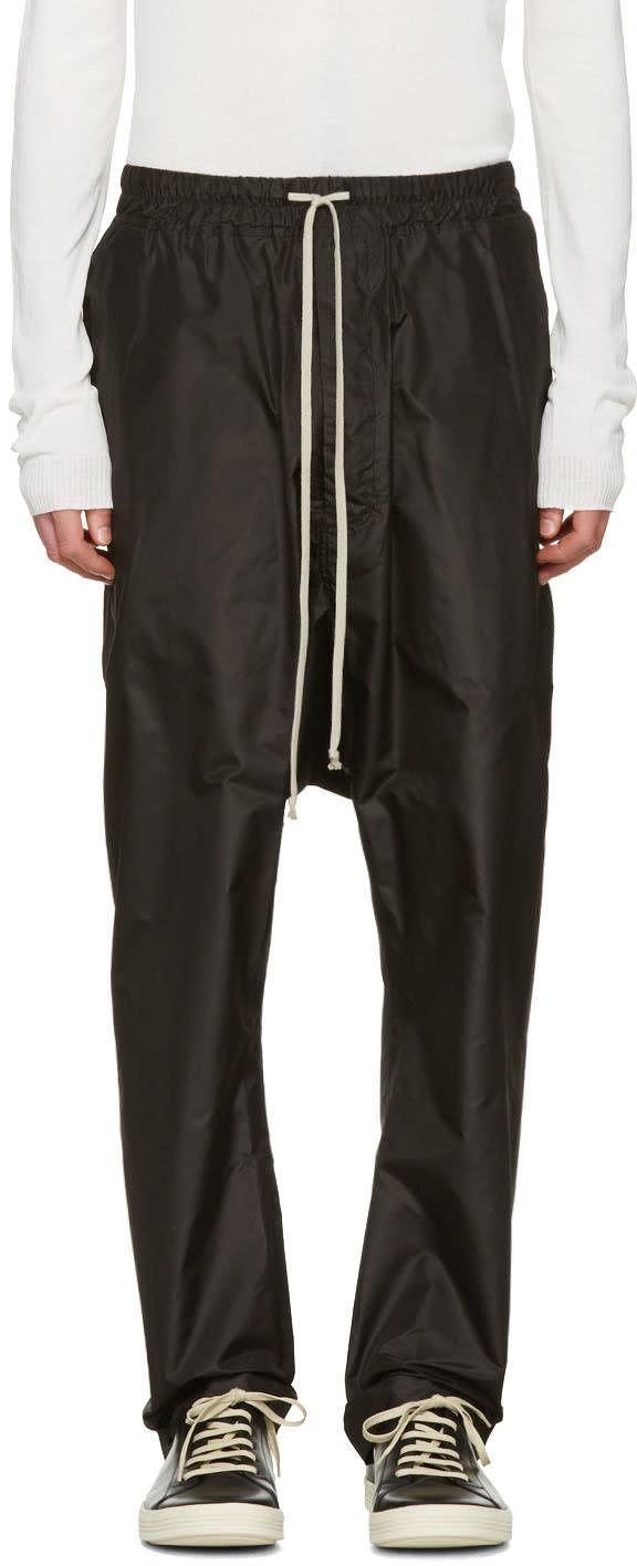 Rick Owens Black Drawstring Trousers