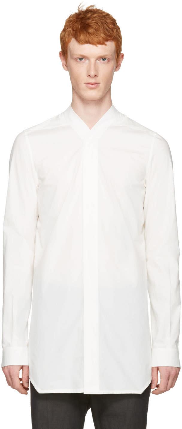 Rick Owens White Faun Shirt
