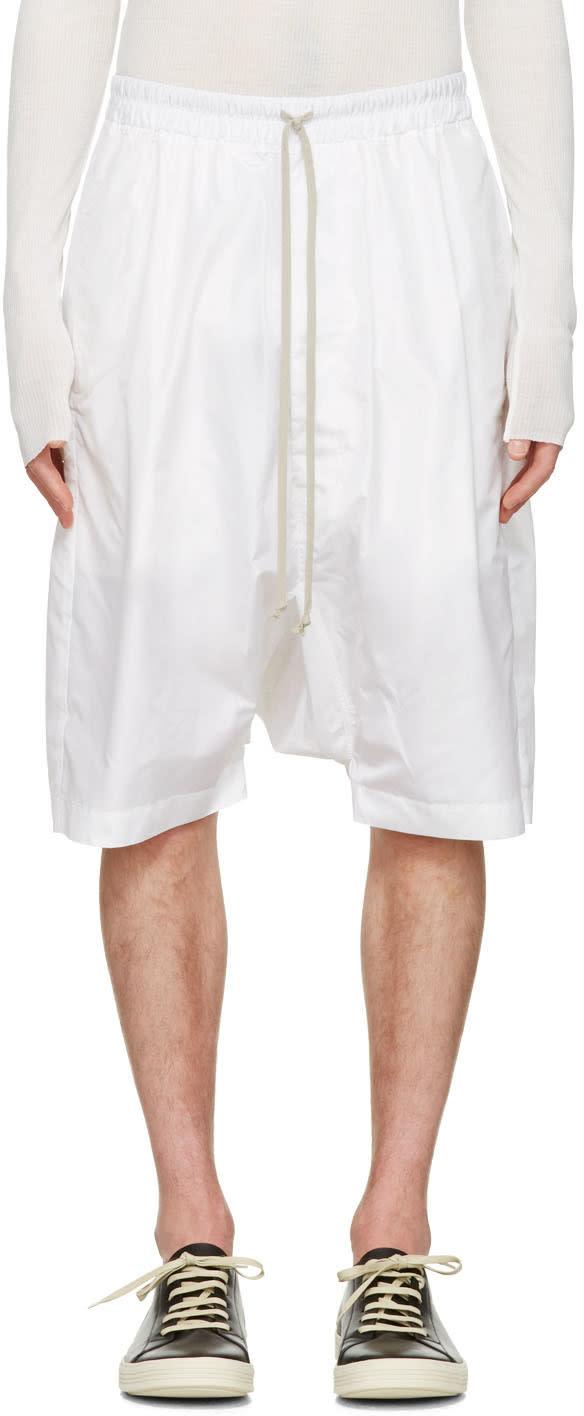 Rick Owens White Pods Shorts