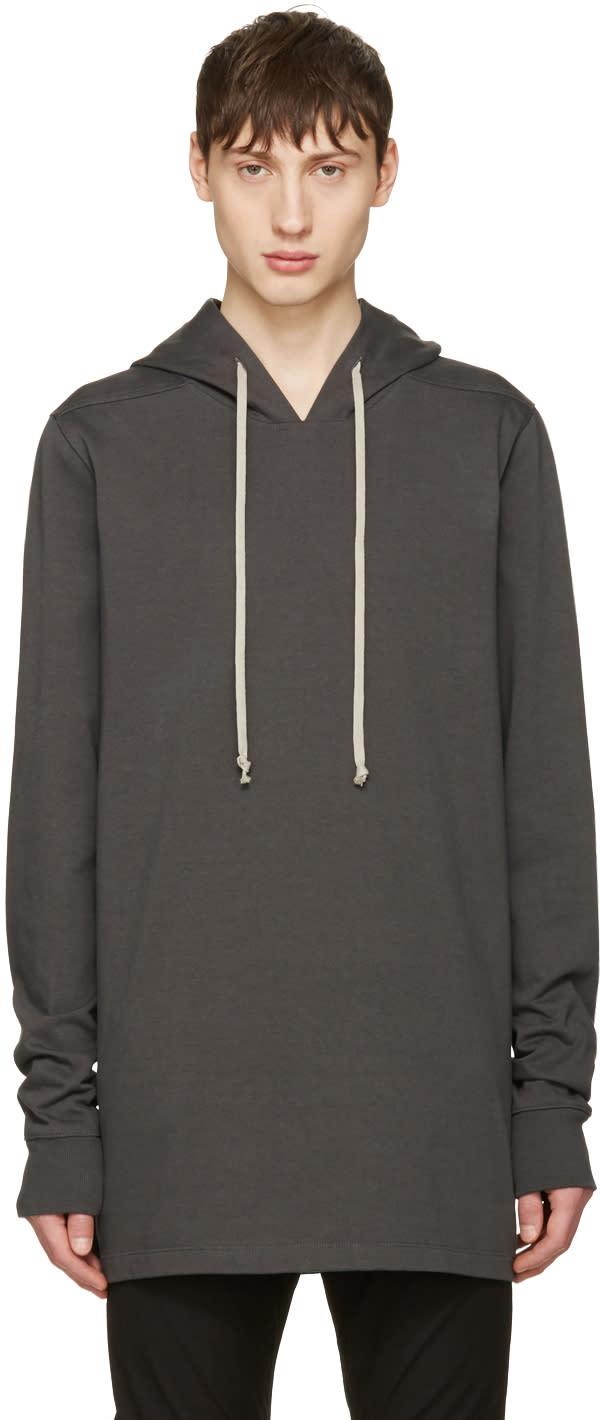 Rick Owens Grey Pullover Hoodie