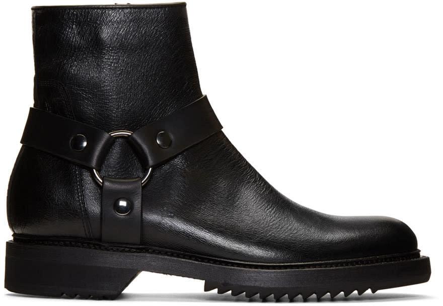 Rick Owens Black Harness Creeper Boots