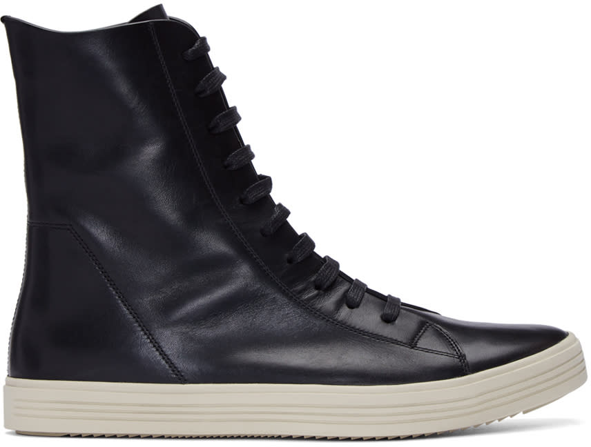 Rick Owens Black Mastadon High-top Sneakers