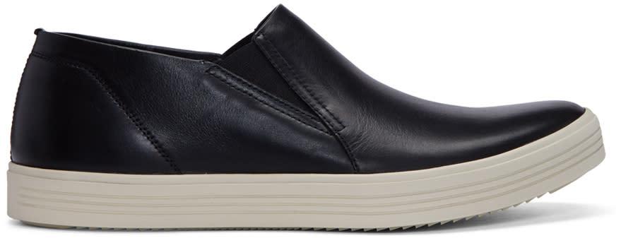 Rick Owens Black Mastodon Deck Slip-on Sneakers
