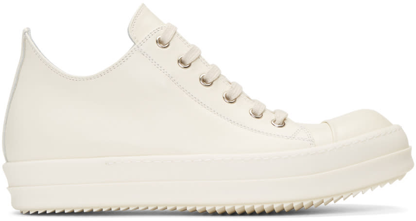 Rick Owens Ivory Low Sneakers