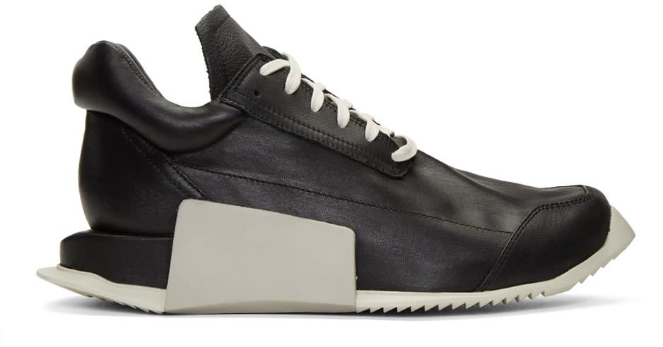 Rick Owens Black Adidas Originals Edition Level Sneakers