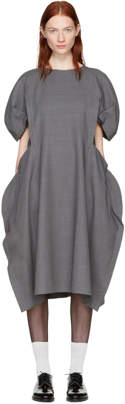 Comme Des Garcons Grey Volume Dress
