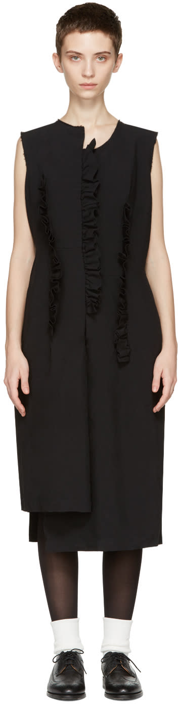 Comme Des Garçons Black Ruffle Dress