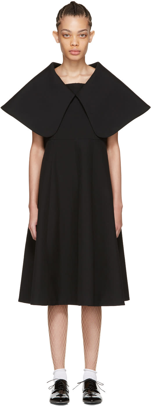 Comme Des Garcons Black Exaggerated Collar Dress