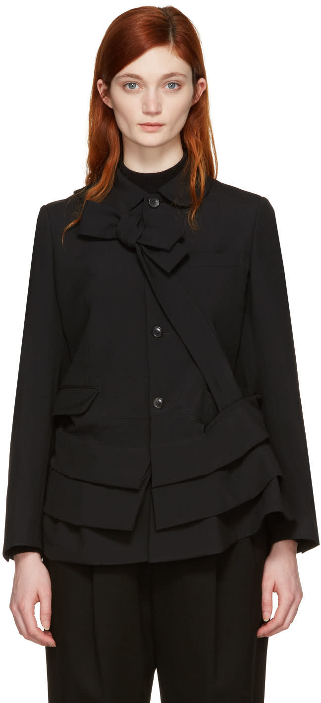 Image of Comme Des Garçons Black Peplum Jacket