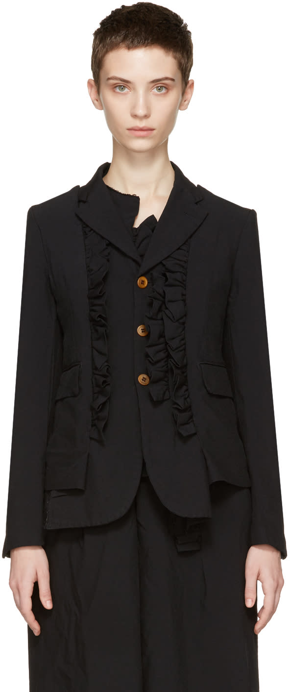 Comme Des Garcons Black Ruffle Jacket