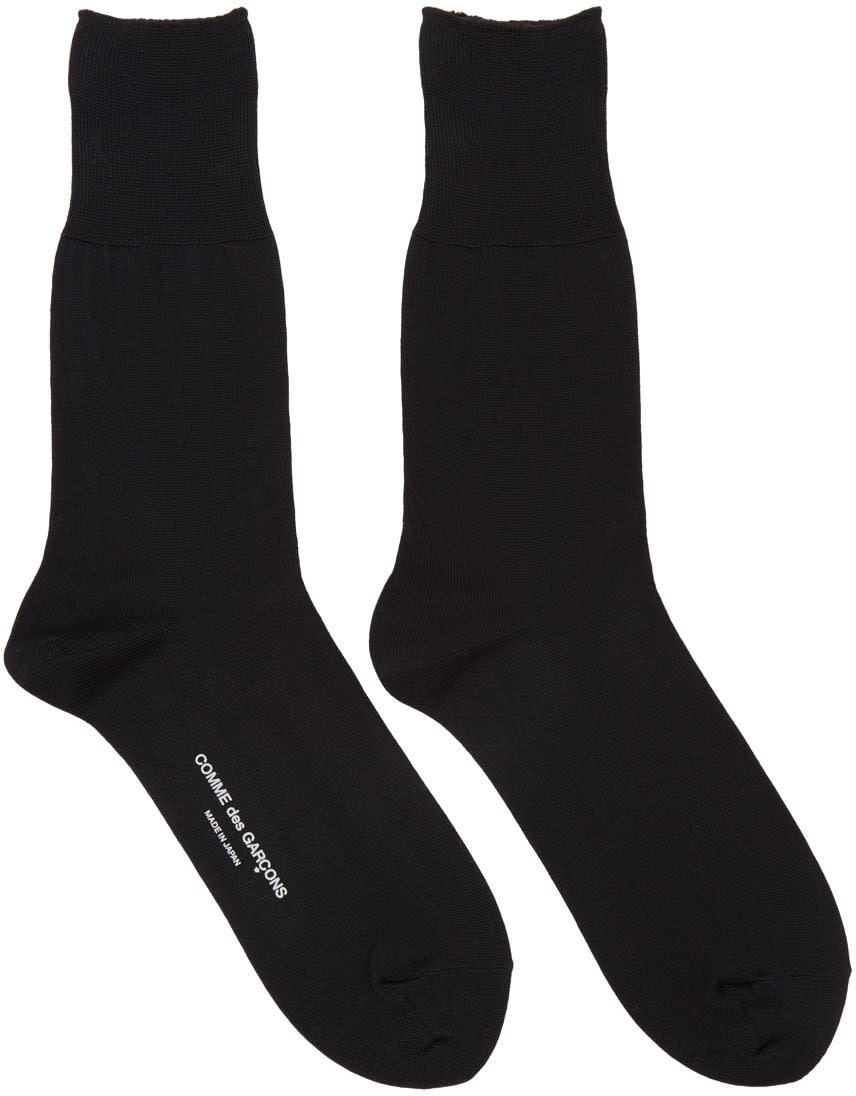Comme Des Garcons Black Long Socks